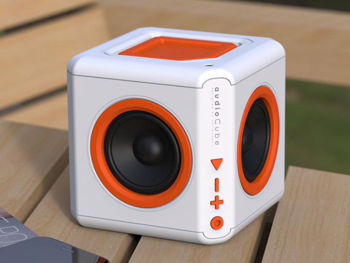 PowerCube AudioCube Portable, bílá