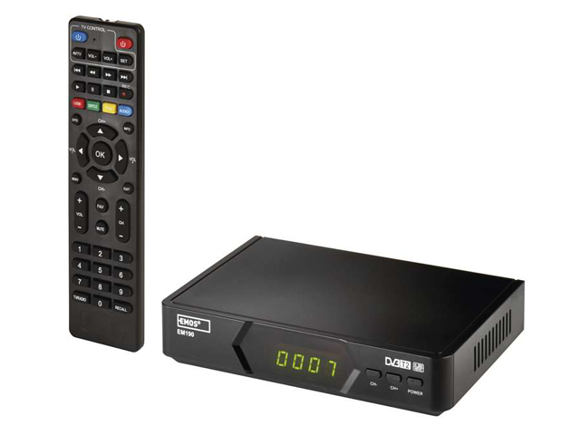 set-top box Emos EM 190 HD, DVB-T2