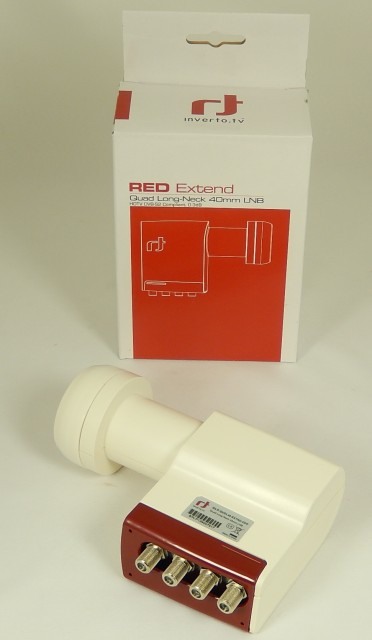LNB konvertor Inverto Red Extend Long Neck Quad 0,3dB