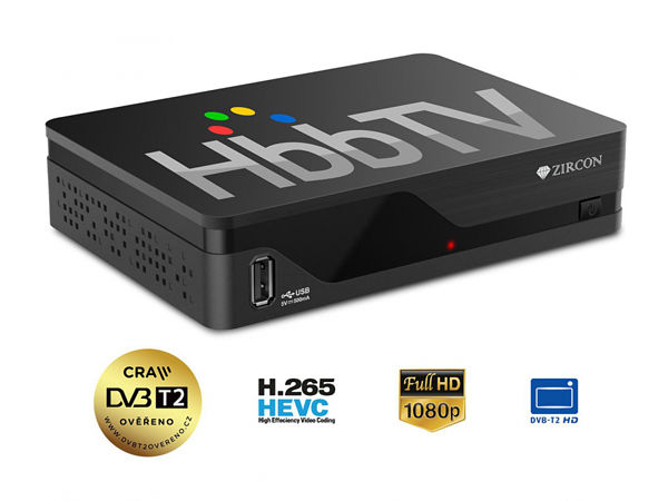 set-top box Zircon AIR T2, DVB-T2, HbbTV