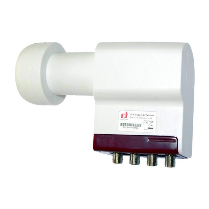 LNB konvertor Inverto Red Extend Long Neck Quattro 0,3dB
