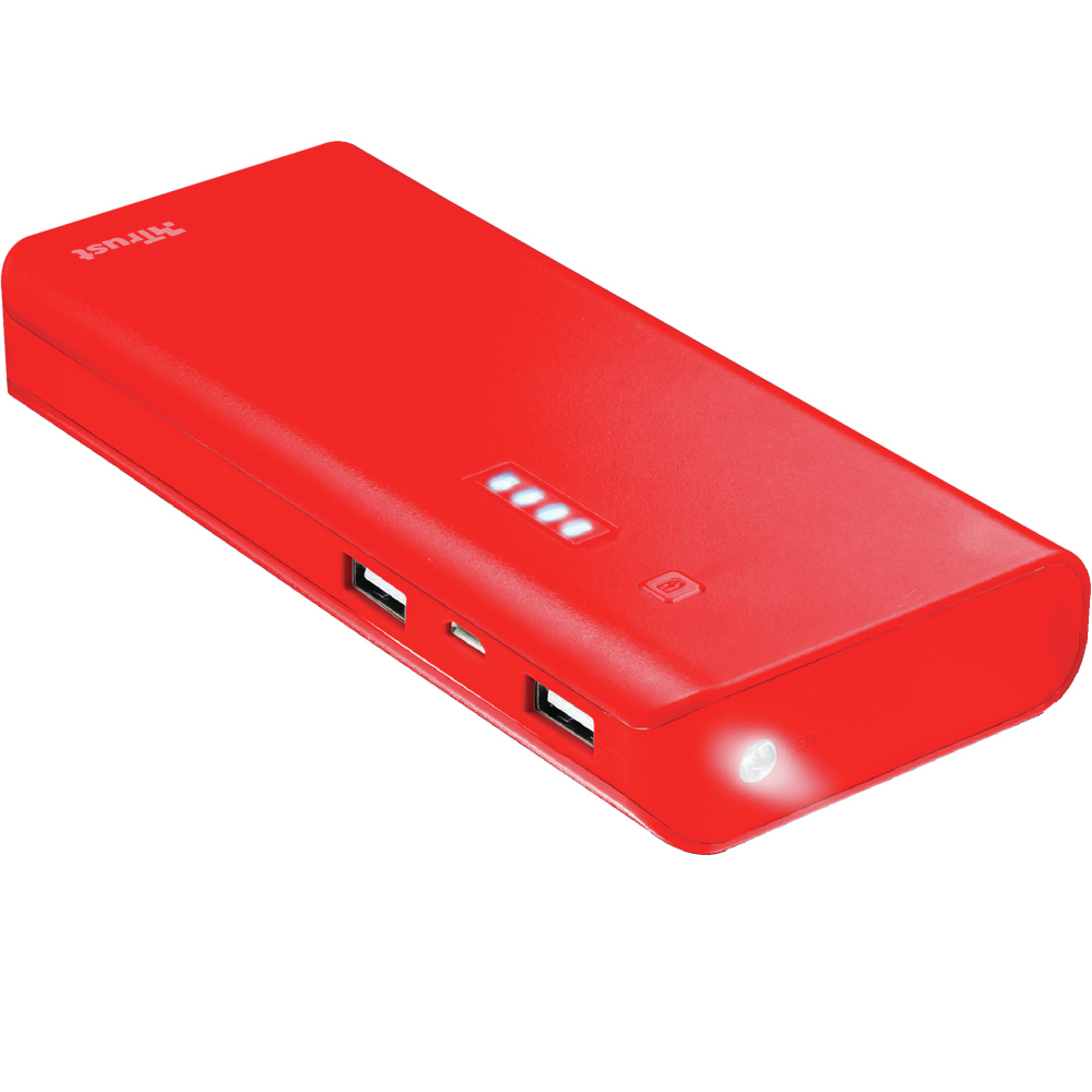 PRIMO Power bank 10000 mAh red TRUST