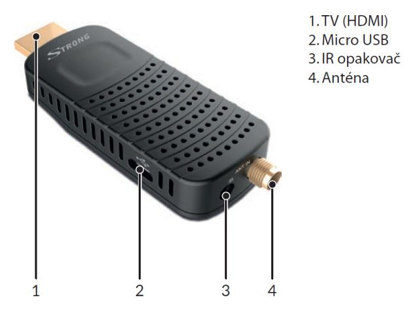 USB set-top box Strong SRT 82, DVB-T2